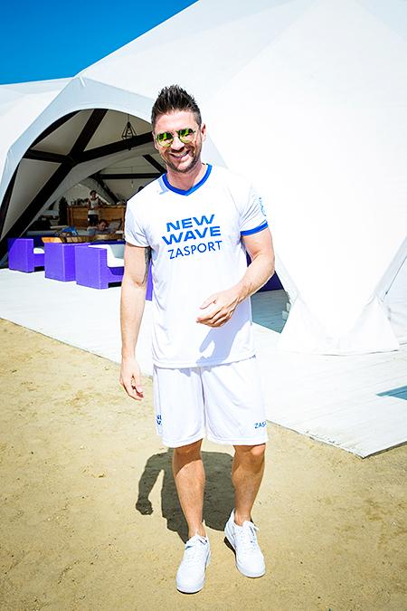 Сергей Лазарев на кубке по пляжному футболу
