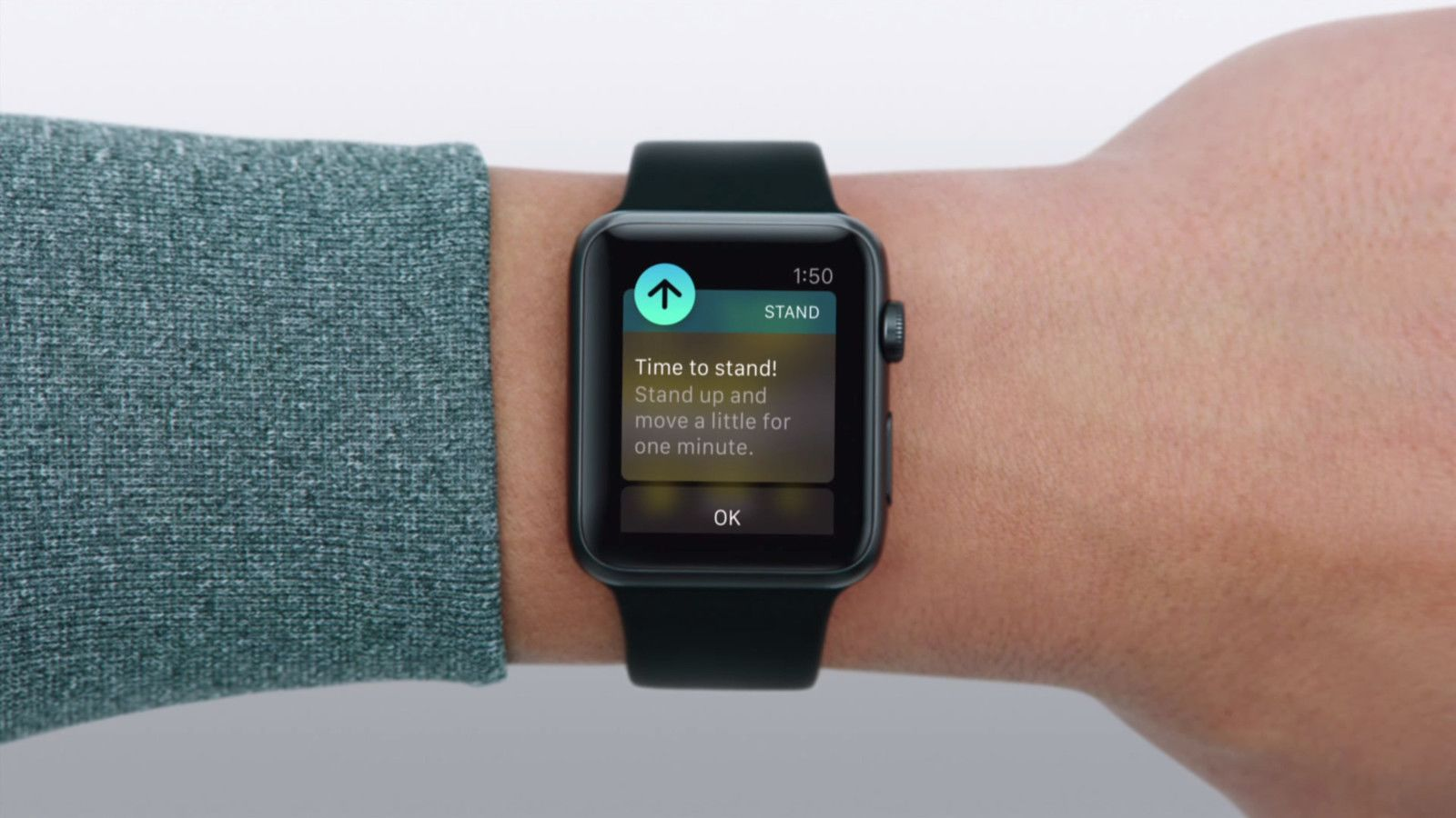 One of the WatchOS notifications. This one is from the Activity app telling you that you're sitting for too long, it's time to get up.