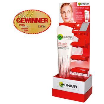 POPAI Award für Garnier Miracle Cream Display