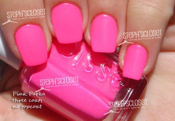 Essie punchy pink vs pink parka