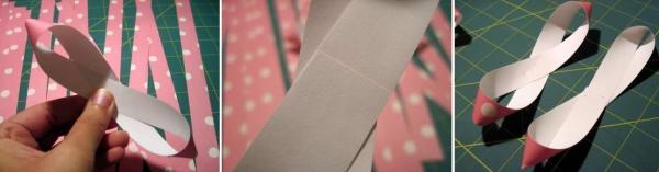 Сделать бантик из бумаги