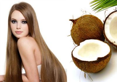 Маска для волос на ночь из кокосового масла