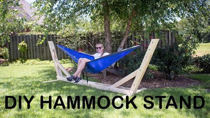 деревянный стенд для гамака