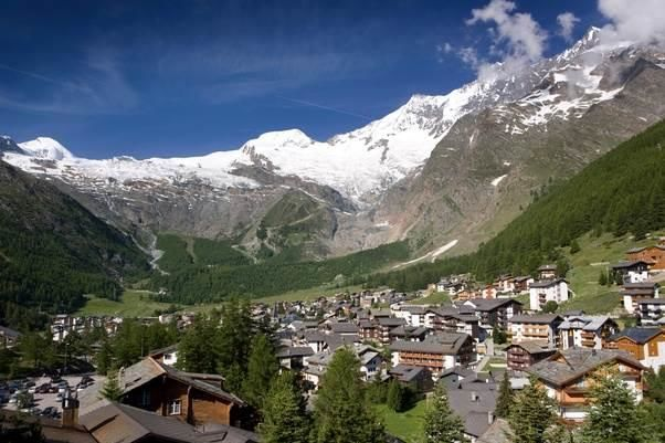 Saas Fee Gletscherblick