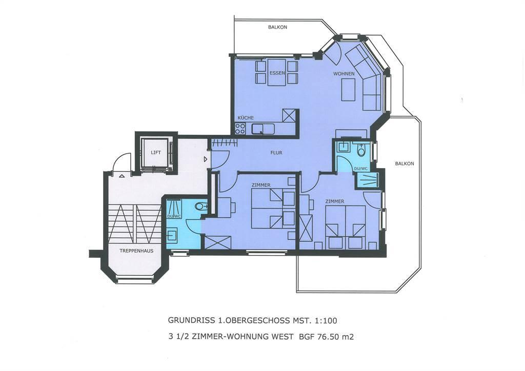 Haus Alpenrose 1. OG-West