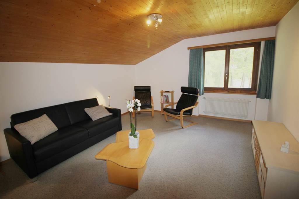 Wohnzimmer mit Waldblick Wohnung 6