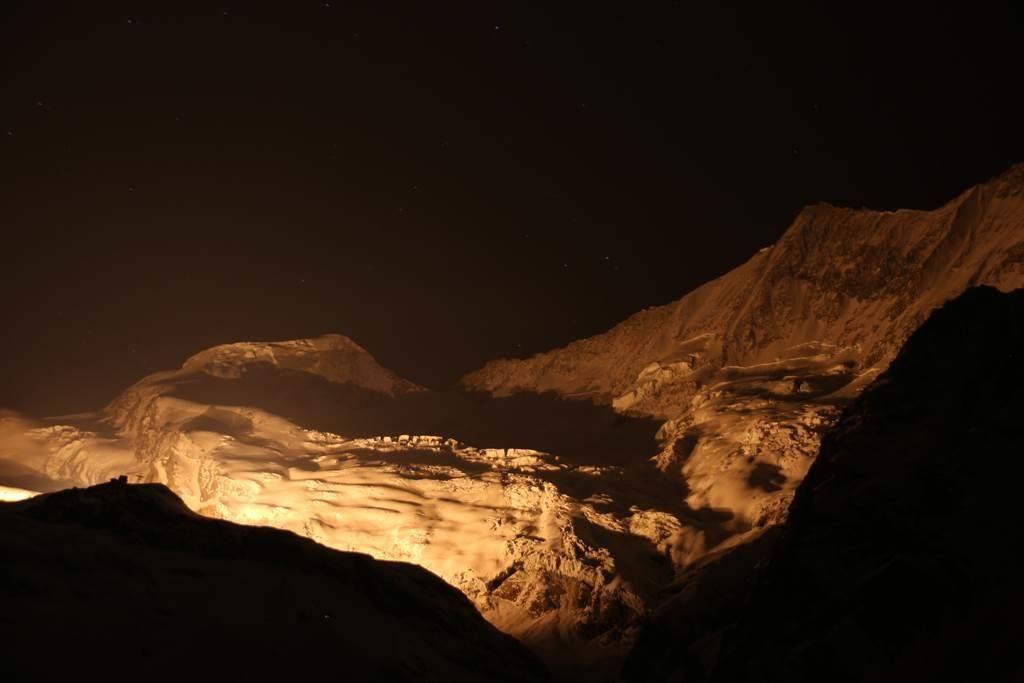 Beleuchtung Walliser Berge