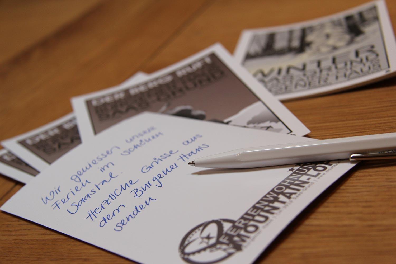 Burgener Haus   Saas-Grund   send me a postcard