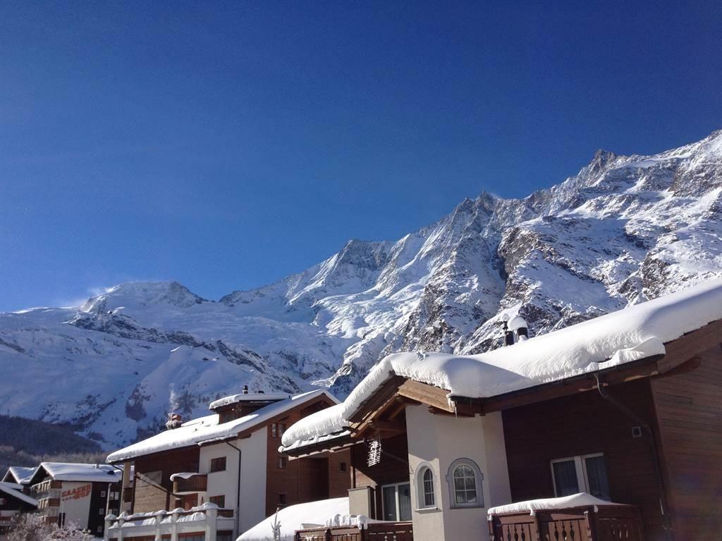 Aussicht vom Ferienhaus Mikado, Winter