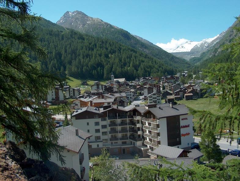 Ansicht Rückseite mit Dorfblick