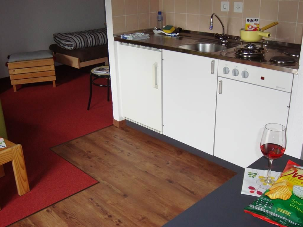 Blick zur Küchenzeile