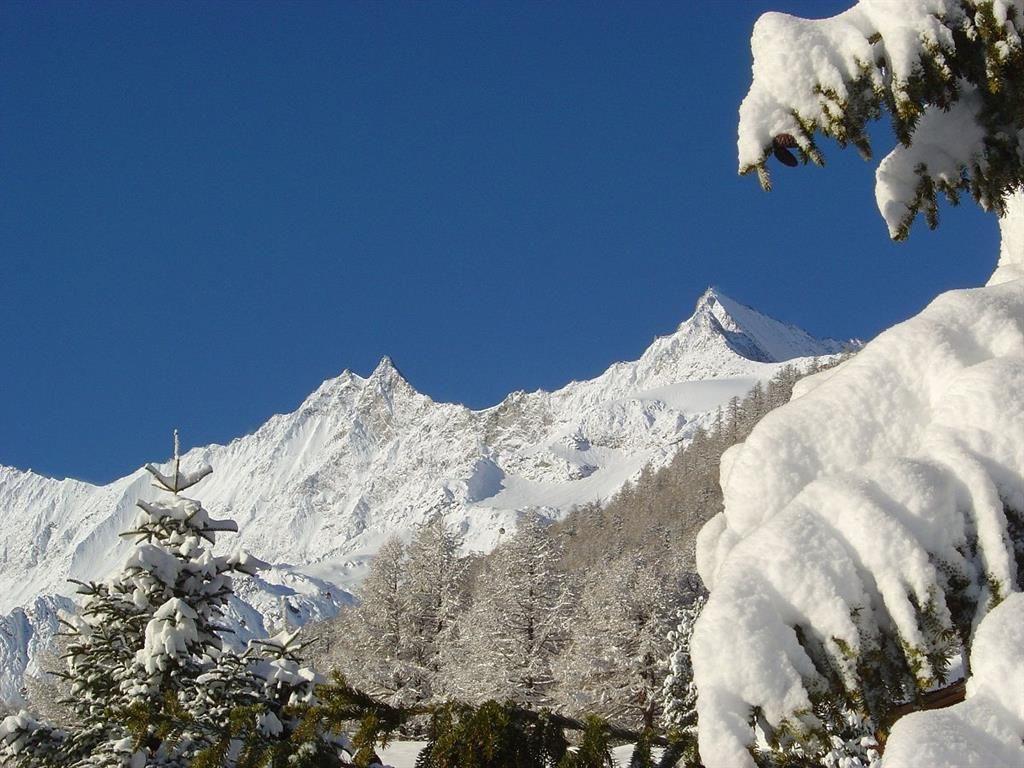 Blick Mischabelkette im Schnee