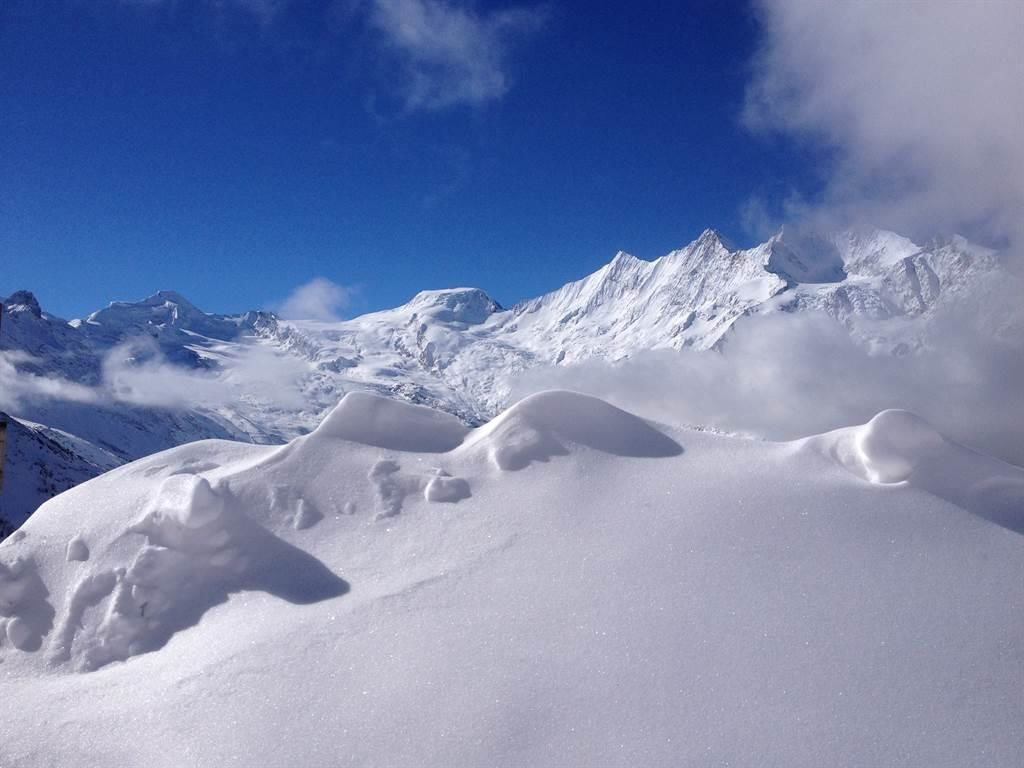 Gletscherblick auf Mischabel