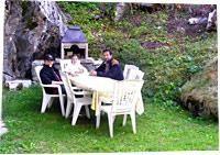Garten mit Cheminée