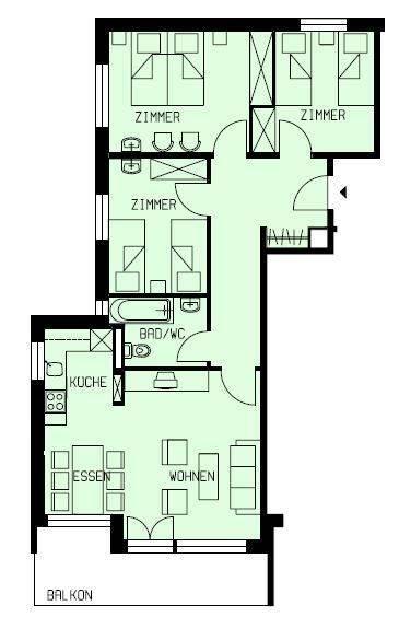 Schlafzimmer1 Wohnung 8
