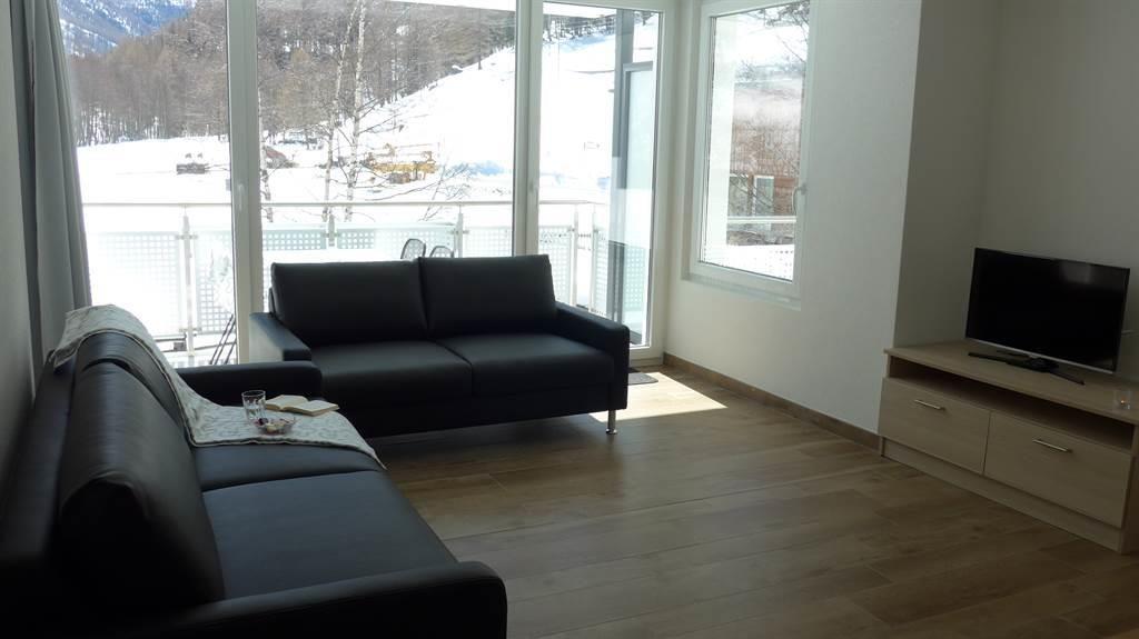 Wohnzimmer mit Blick Richtung Süden