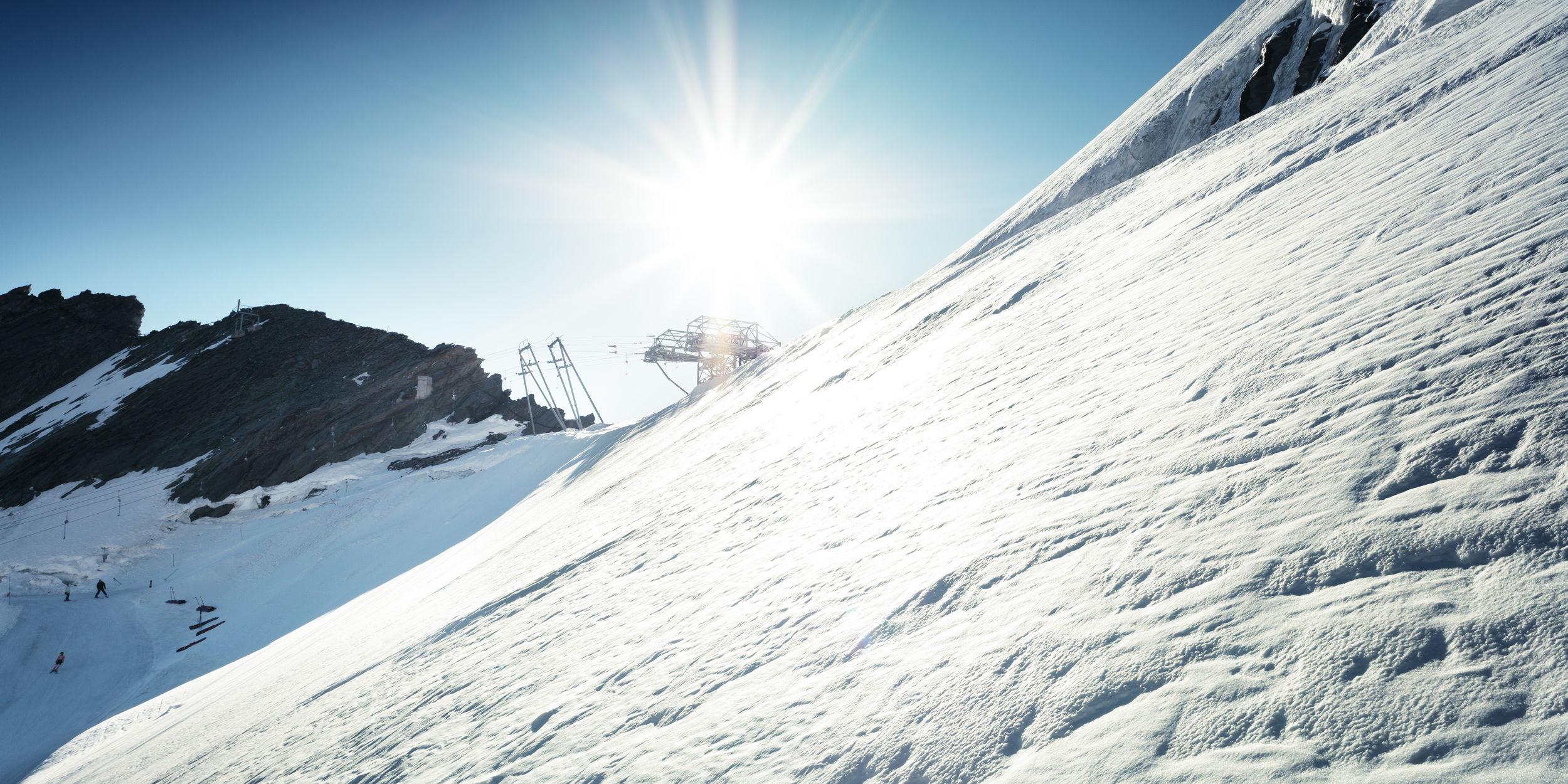 Ski en été en Saas-Fee