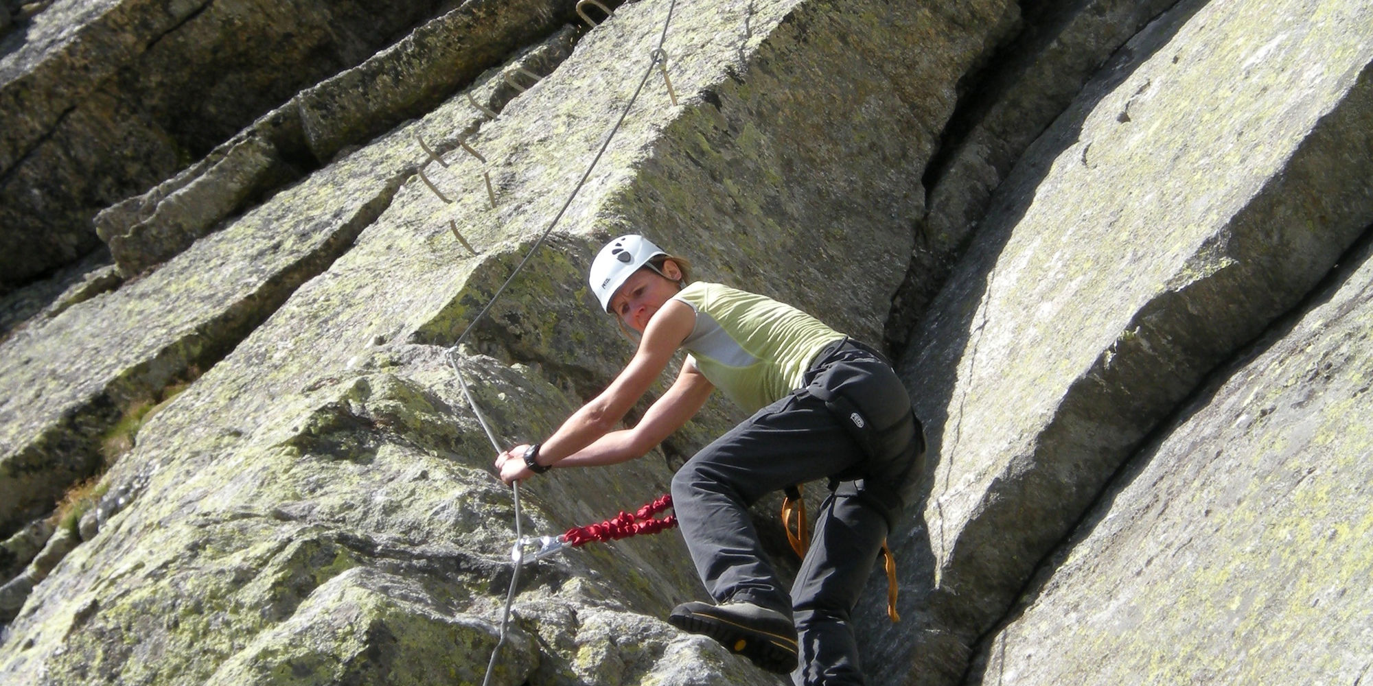 Klettern Klettersteige in der Freien Ferienrepublik Saas-Fee