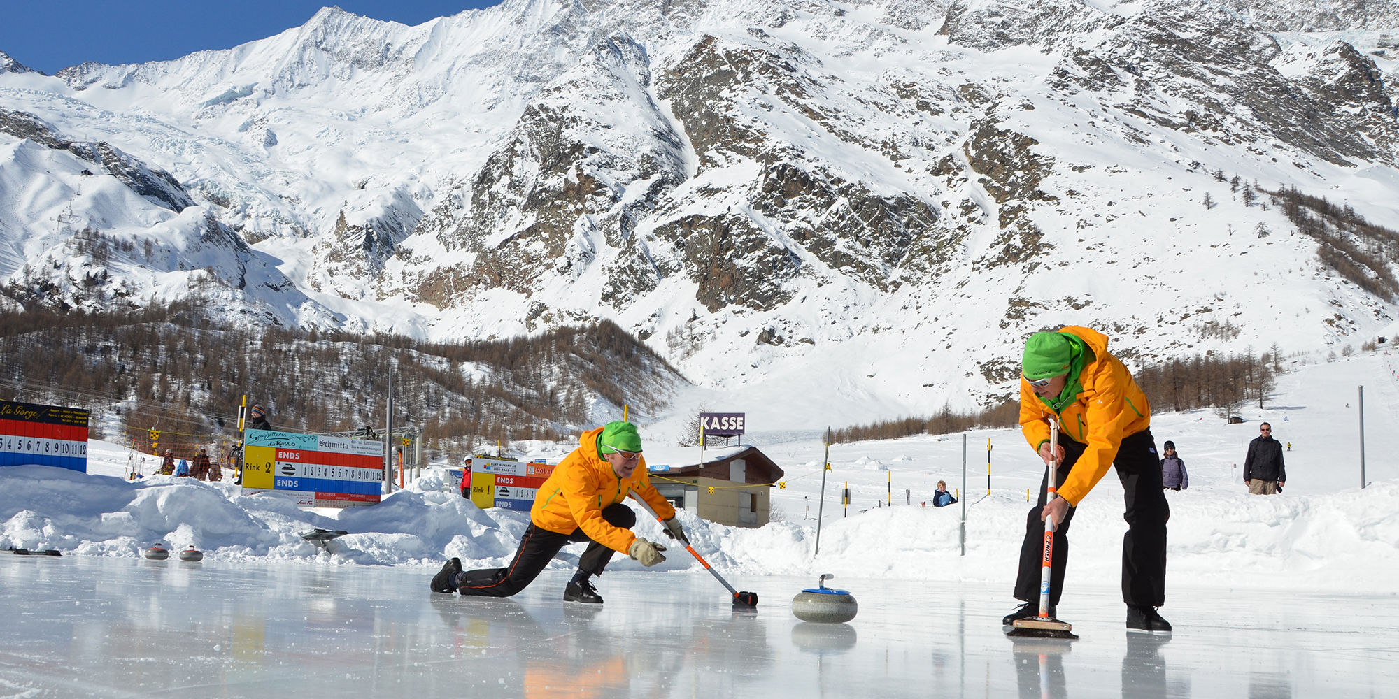 Wintersport in der Freien Ferienrepublik Saas-Fee