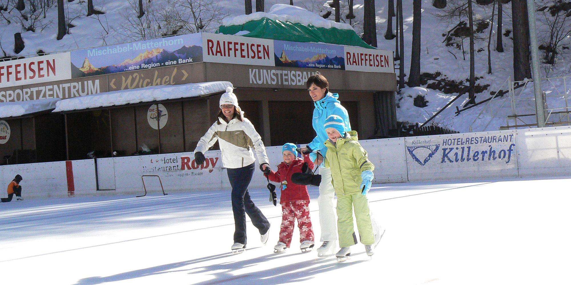 Eislaufen Saas-Fee