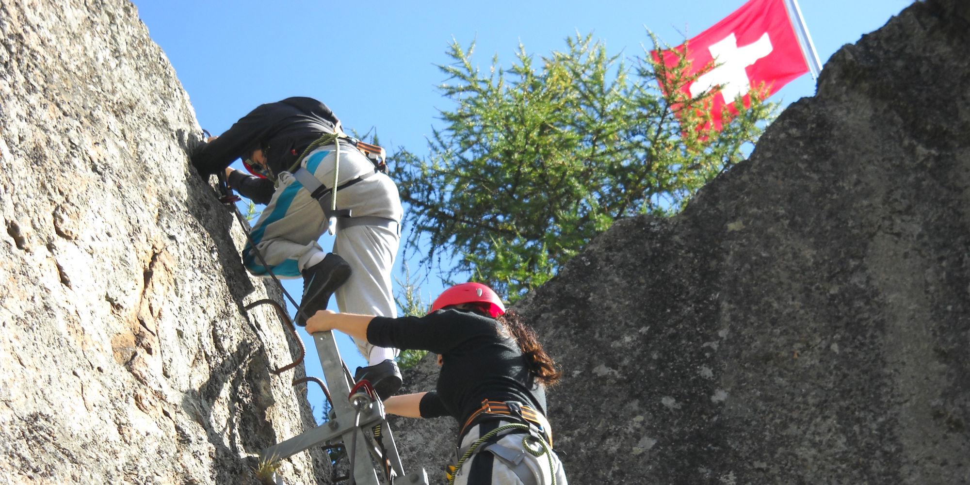 Felsausbildung in der Freien Ferienrepublik Saas-Fee