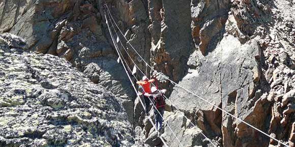 Klettersteig Jägihorn in der Freien Ferienrepublik Saas-Fee
