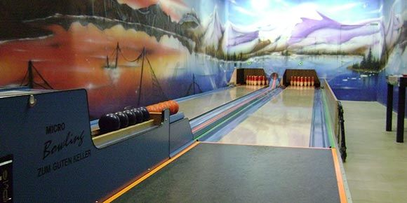 Micro Bowling (Kegeln) in der Freien Ferienrepublik Saas-Fee