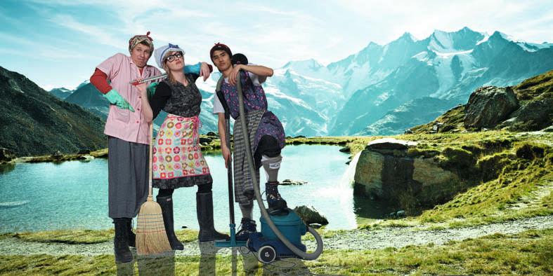 Mountain Cleaning Day in der Freien Ferienrepublik Saas-Fee