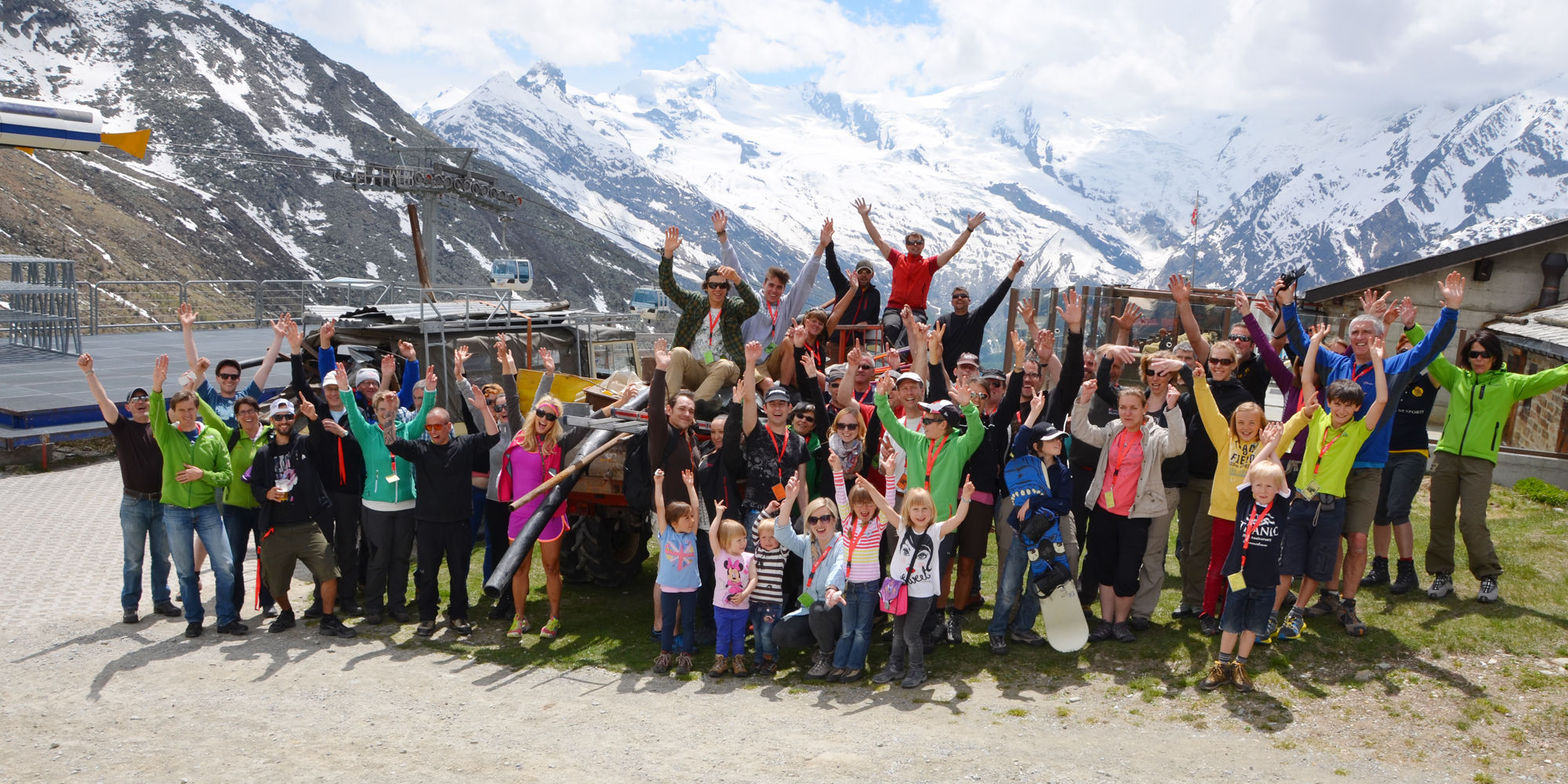 Mountain Cleaning Day in the Free Republic of Holidays Saas-Fee