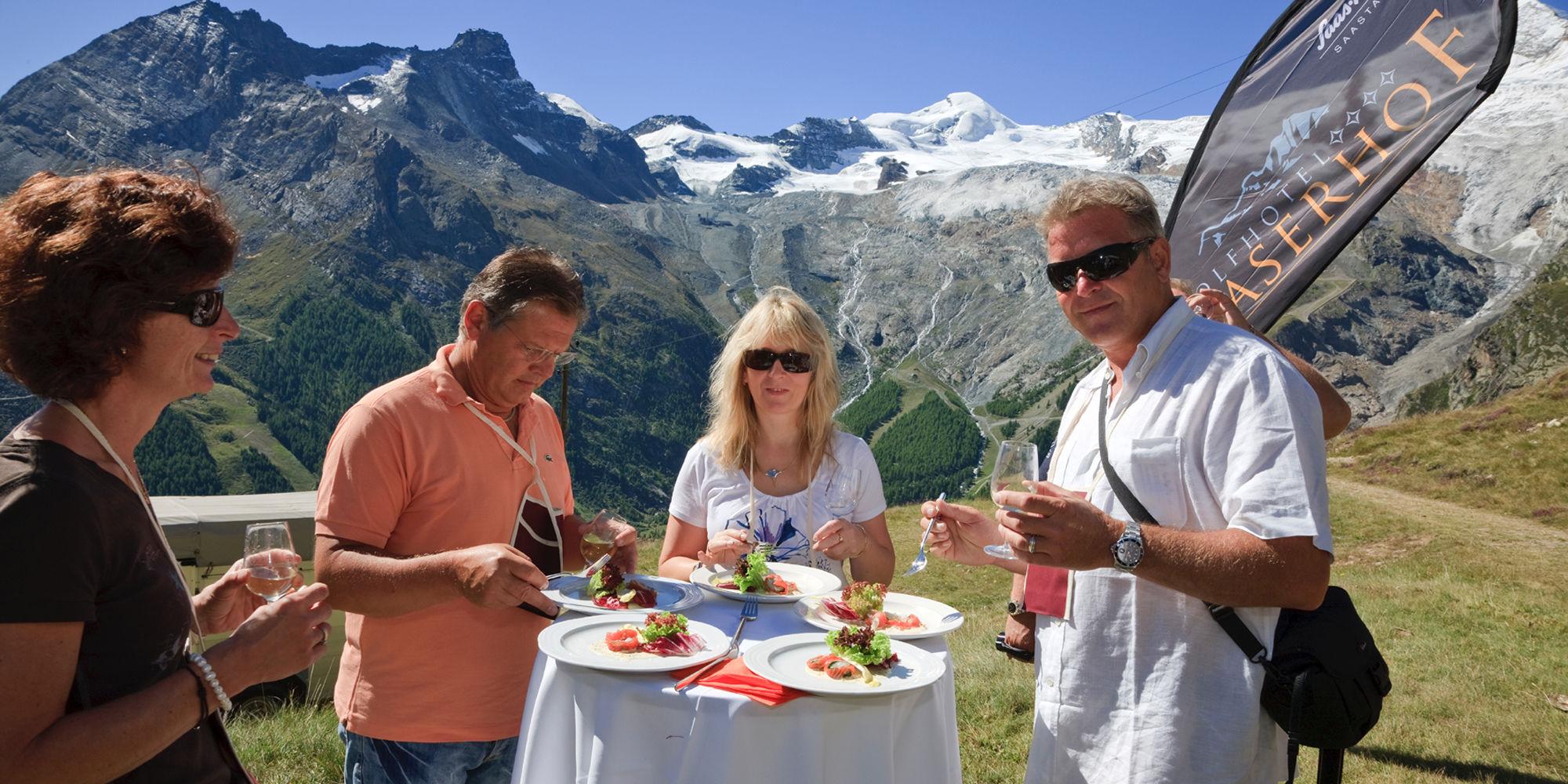 Parcours gourmand de Saas-Fee dans la République Libre des Vacances Saas-Fee