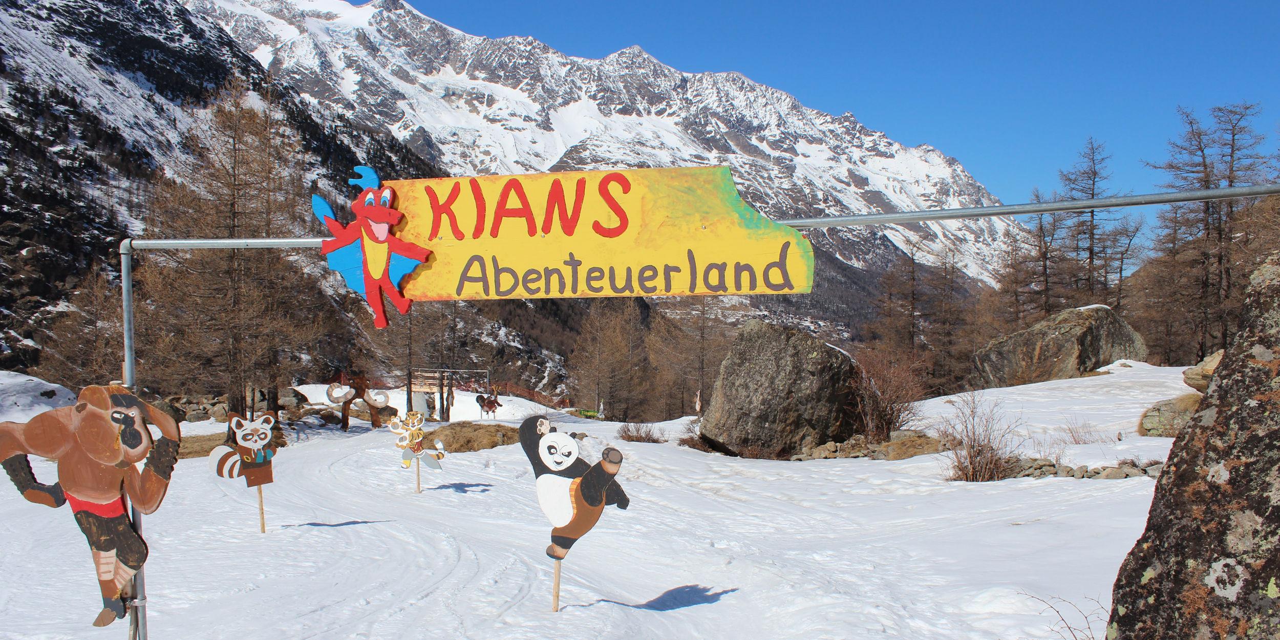 Kian's Abenteuerland in der Freien Ferienrepublik Saas-Fee