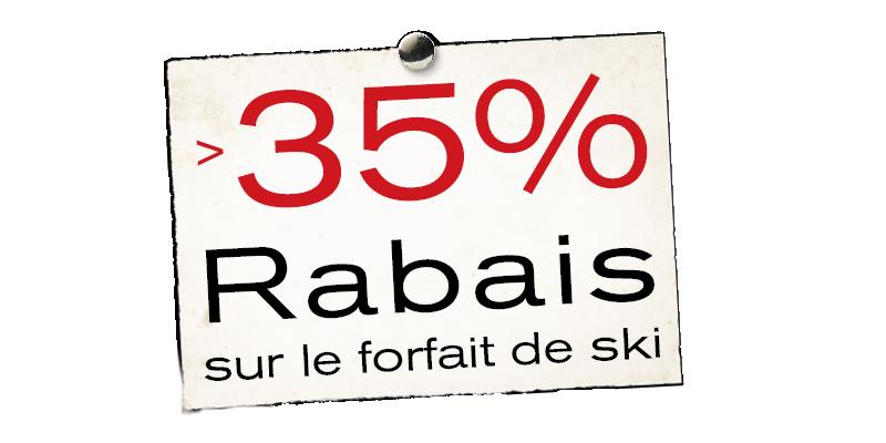 35% Rabais sur le forfait de ski