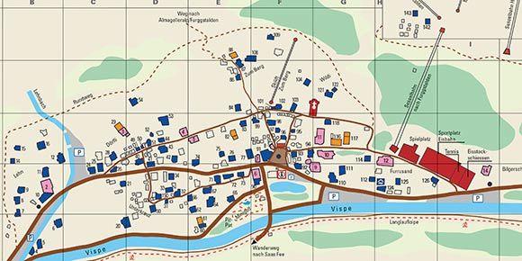 Dorfplan Saas-Almagell
