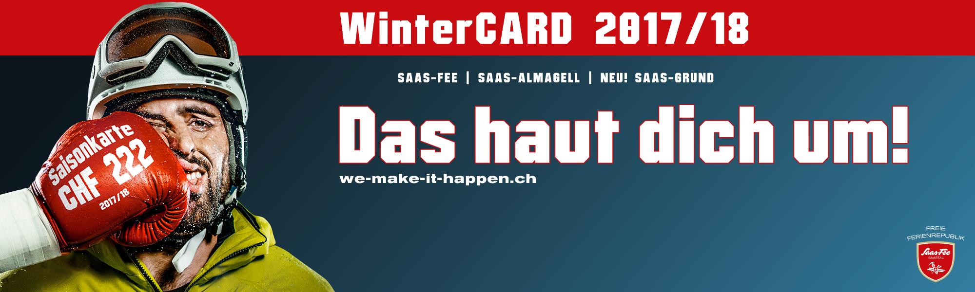 WinterCard mit Saas-Grund in Saas-Fee