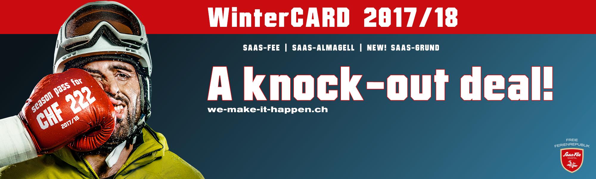 WinterCard with Saas-Grund in Saas-Fee