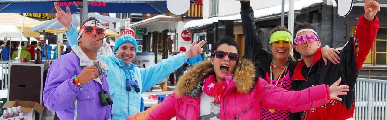 Après Ski Parade dans la République Libre des Vacances Saas-Fee