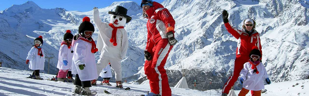 Ski schools in the Free Republic of Holidays Saas-Fee
