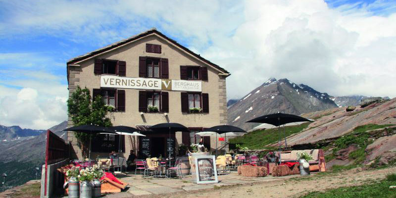 Mountain Restaurant Vernissage in the Free Republic of Holidays Saas-Fee