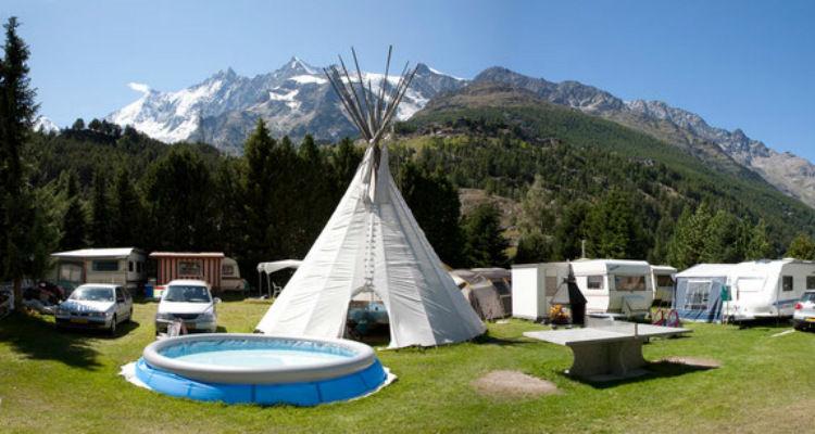Camping Schönblick in Saas-Grund