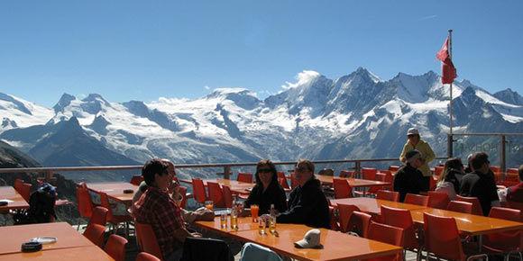 Bergrestaurant Kreuzboden in der Freien Ferienrepublik Saas-Fee
