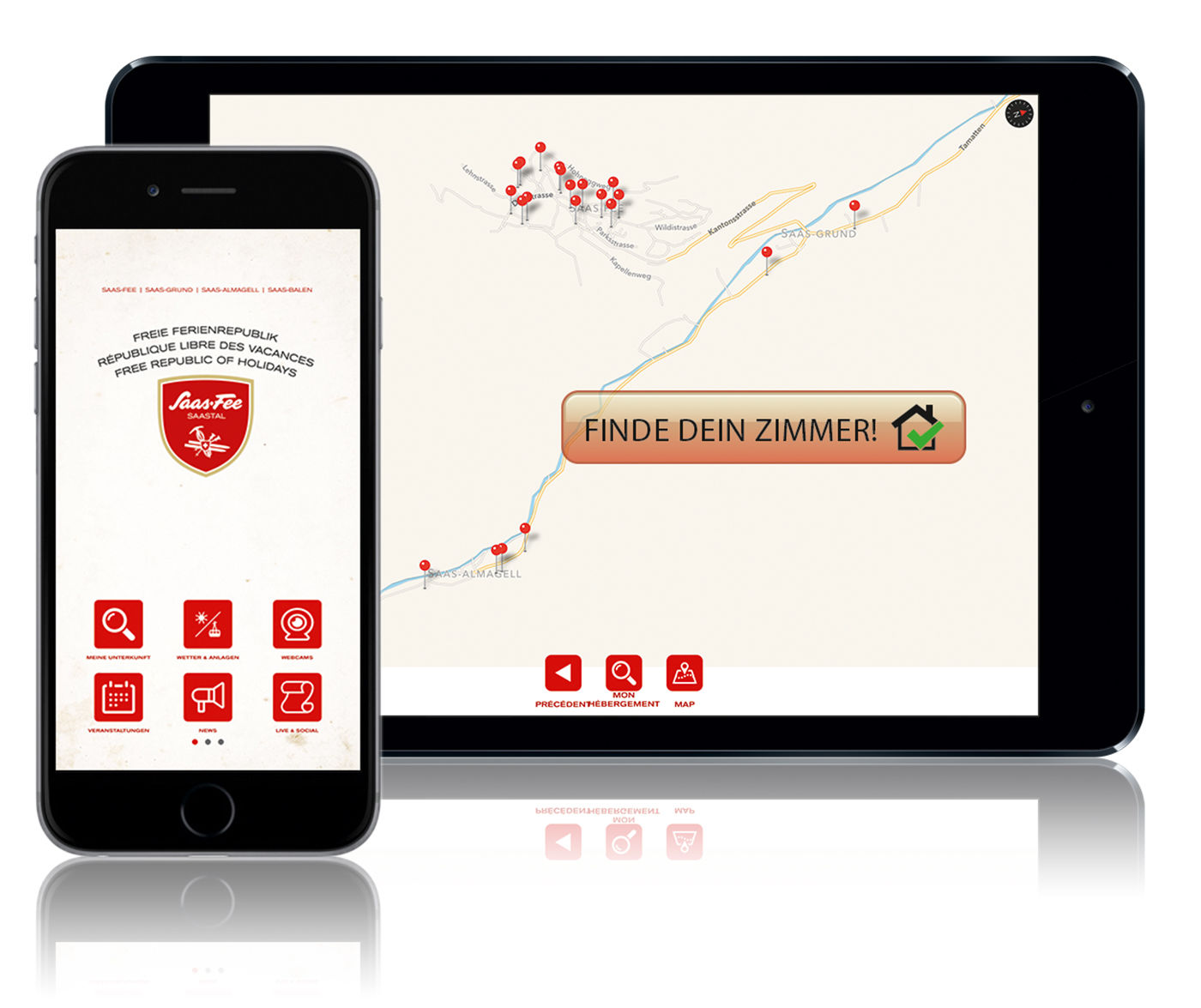 The App of the Free Republic of Holidays Saas-Fee