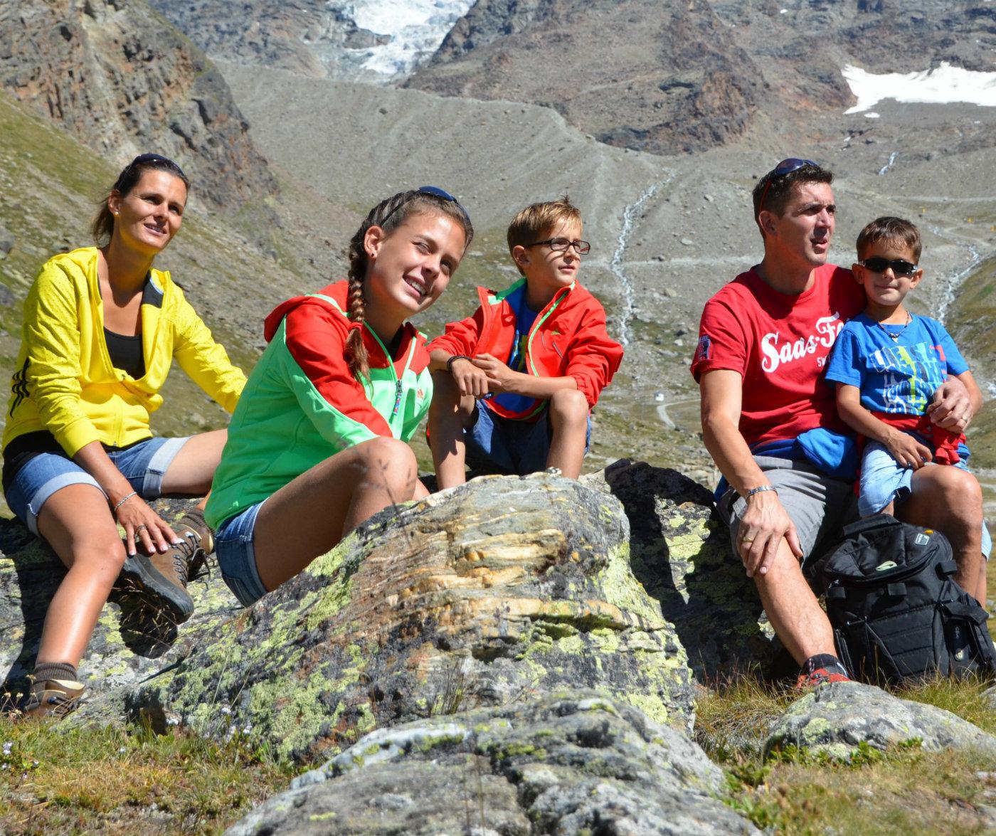 Familienurlaub in der Freien Ferienrepublik in Saas-Fee