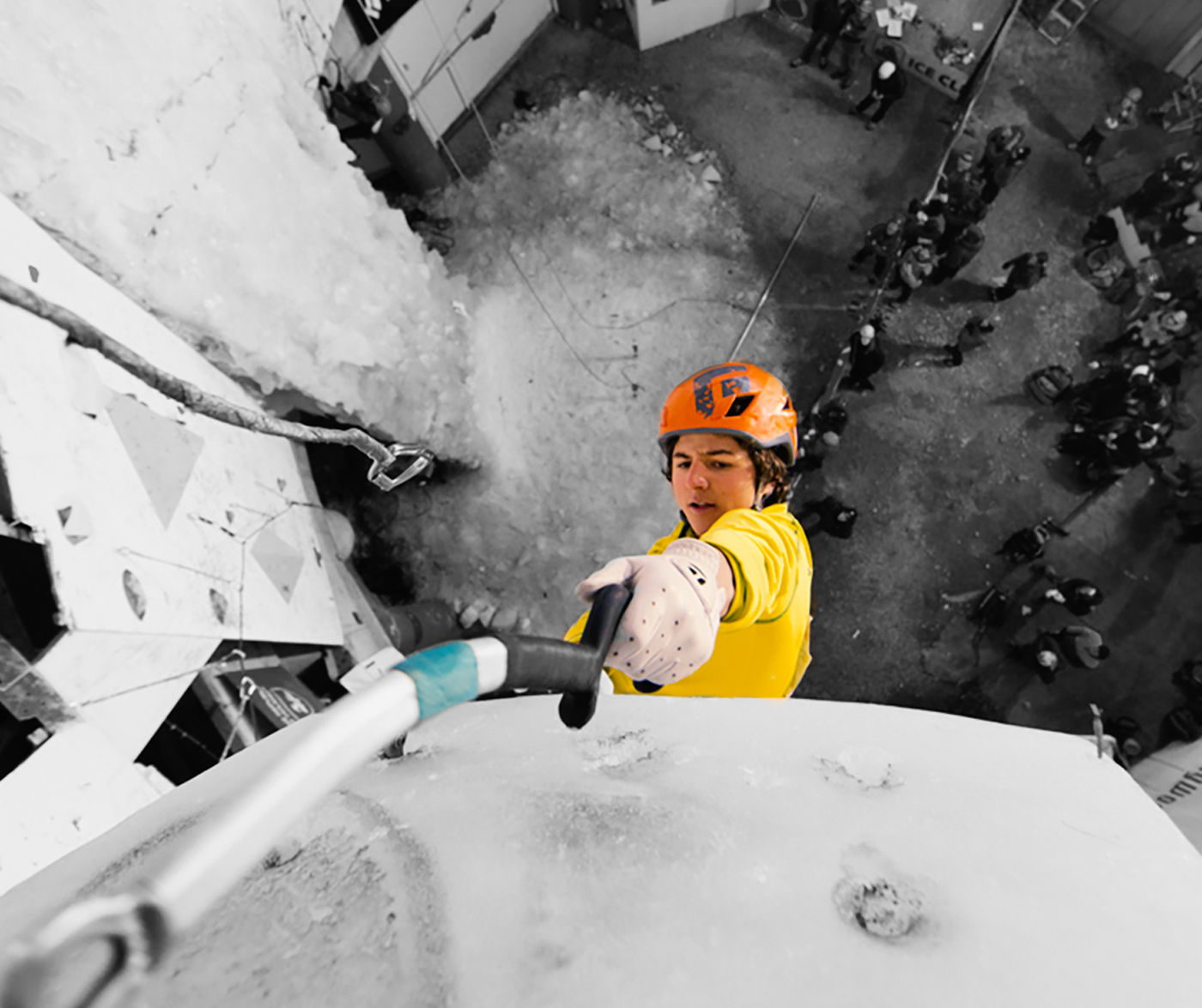 """Ice Climbing Worldcup Saas-Fee"""