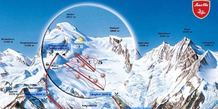 Interaktiver Plan - Sommerpanorama Saas-Fee