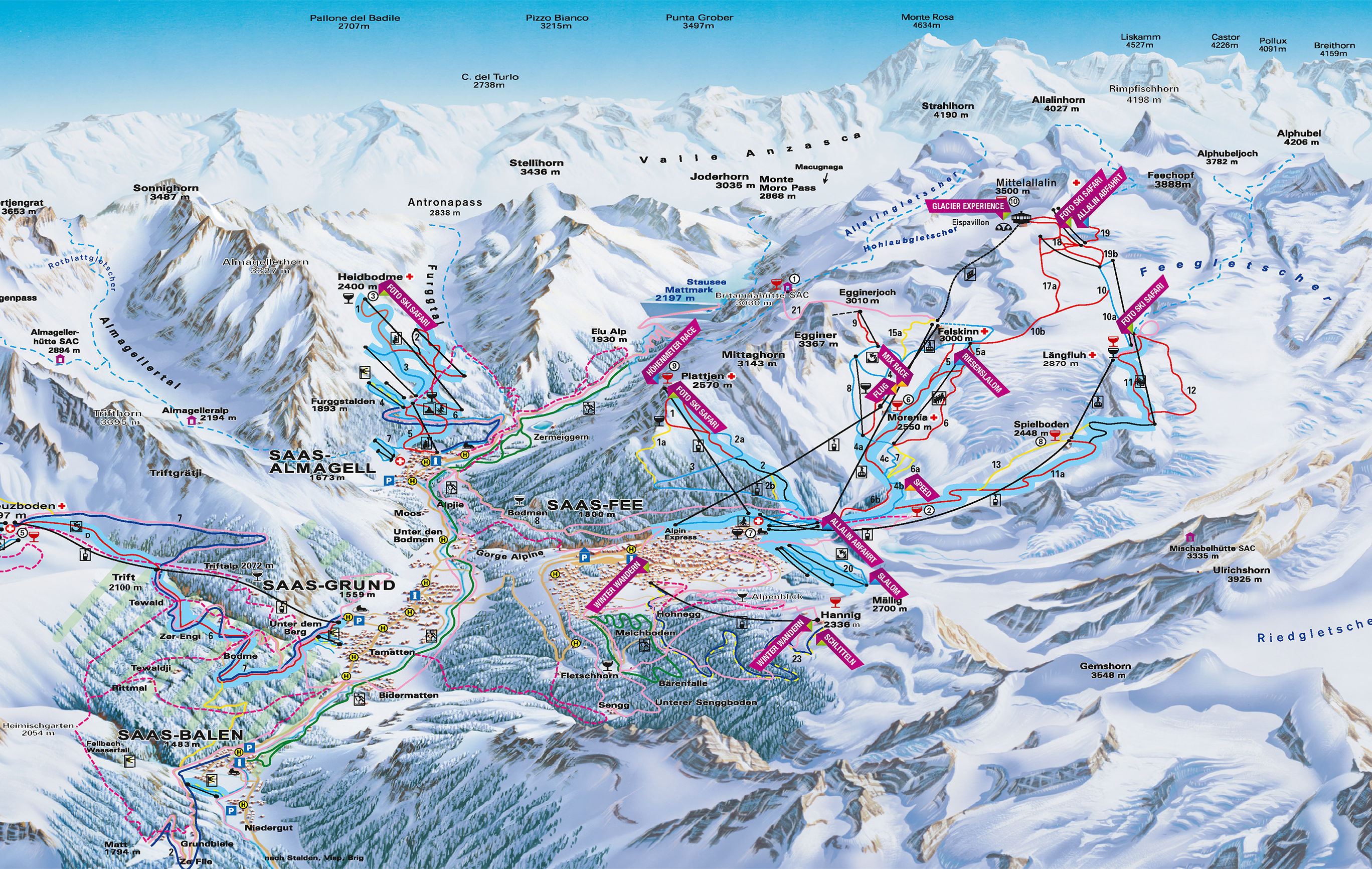 Open lifts / Piste map