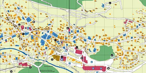 Dorfplan Saas-Fee, Freie Ferienrepublik Saas-Fee
