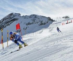 Allalin Rennen in der Freien Ferienrepublik Saas-Fee