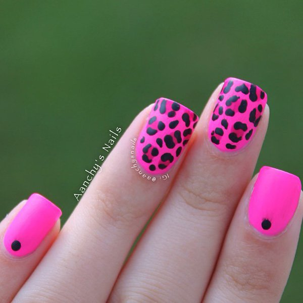 Pointy pink nail designs
