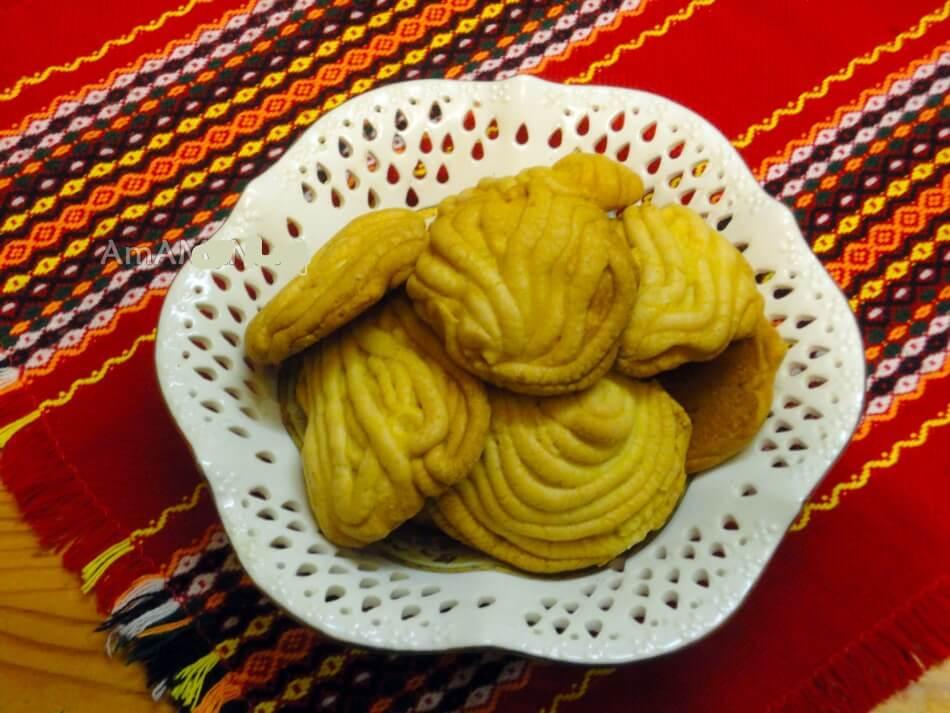 Печенье песочное хризантема через мясорубку