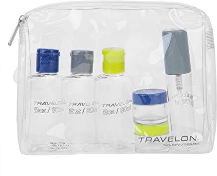 Quart-sized zip-sealed plastic bag